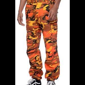 Zumiez Pants - Men s Orange Camo Pants b71e78b959d